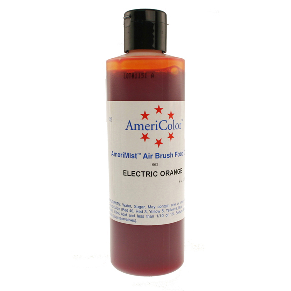 Electric Orange Americolor® AmeriMist™ Air Brush Food Color