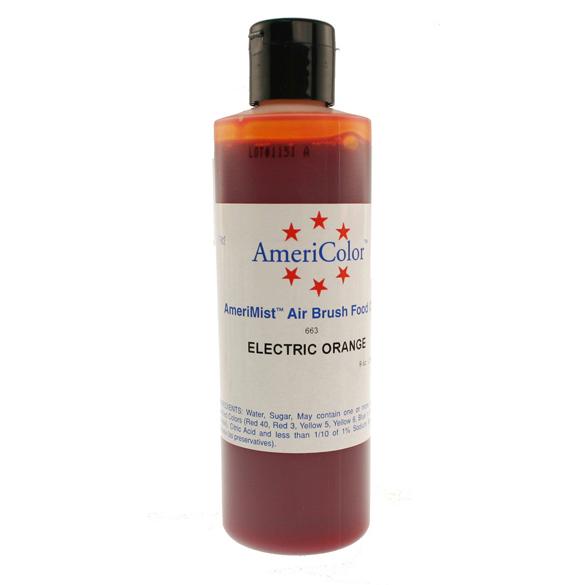 Electric Orange Americolor® AmeriMist™ Air Brush Food Color
