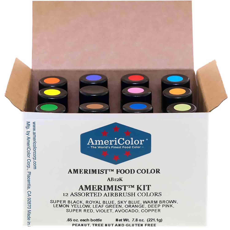 Americolor AmeriMist Air Brush Food Color (12 Colors) (Old # 34-652)