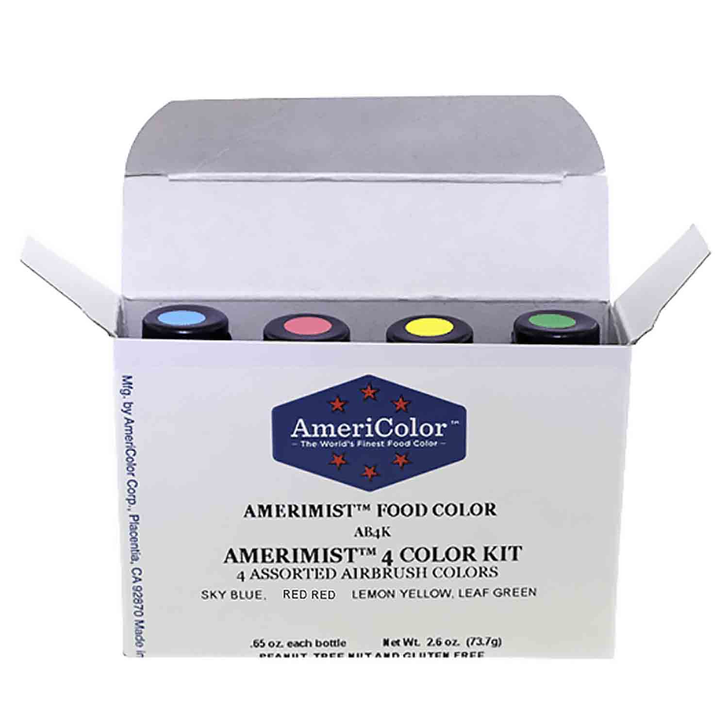 4 Color AmeriMist™ Air Brush Food Color Kit