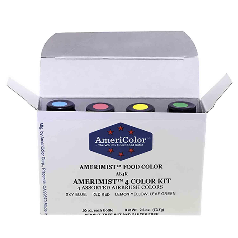 4 Color AmeriMist™ Air Brush Food Color Kit