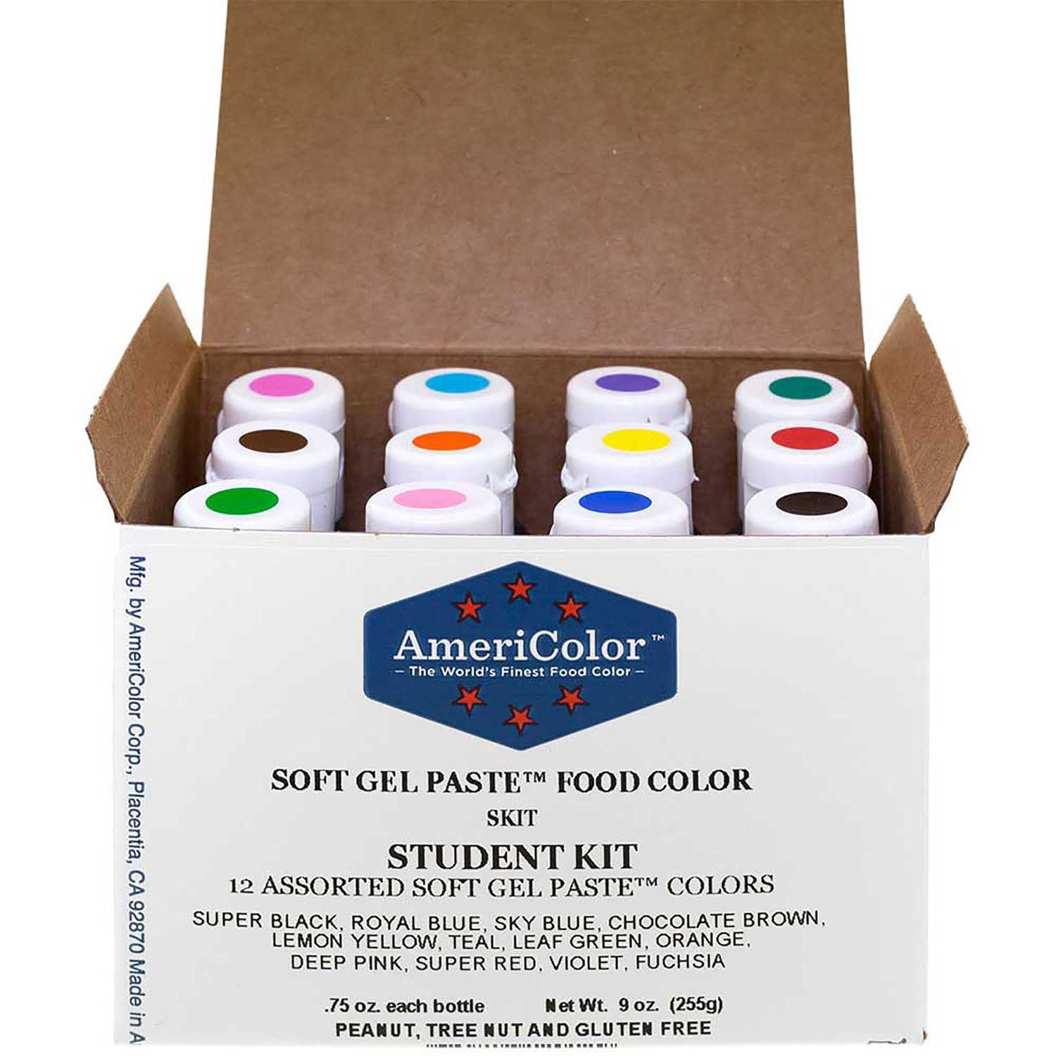 Student AmeriColor® Soft Gel Paste™ Food Color Kit