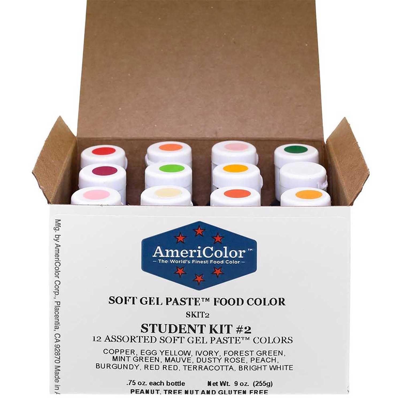 Student Kit #2 Americolor® Soft Gel Paste Food Color (Old # 41-8094)