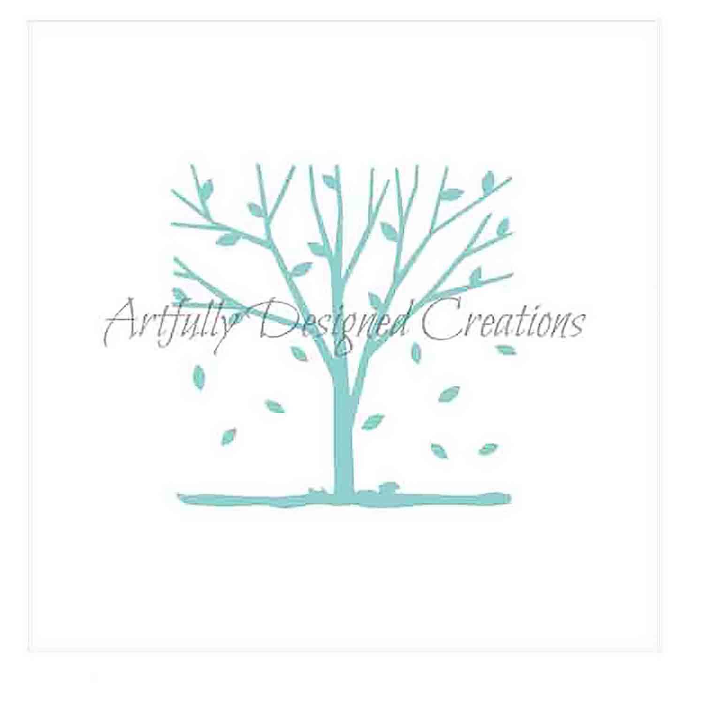 Autumn Tree Cookie Stencil