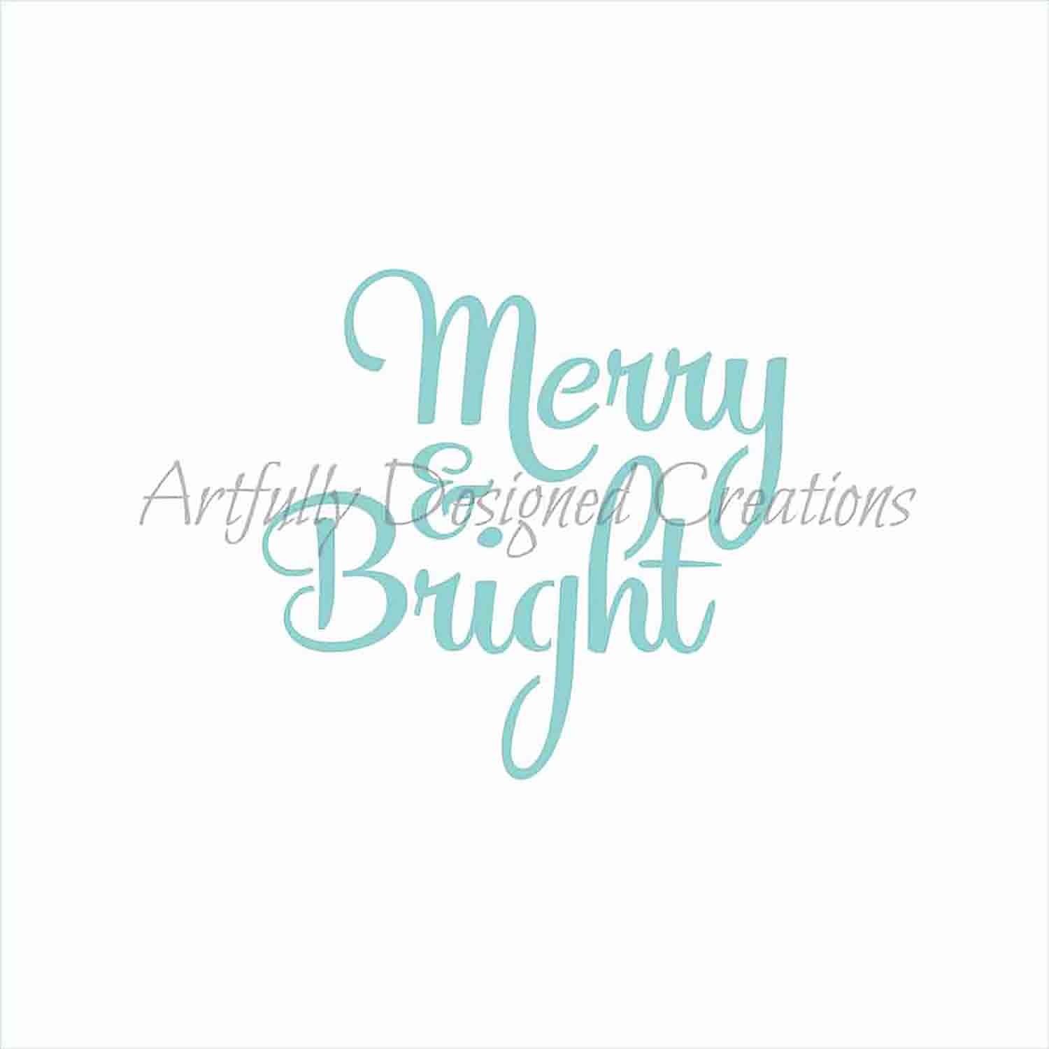 Merry & Bright Cookie Stencil