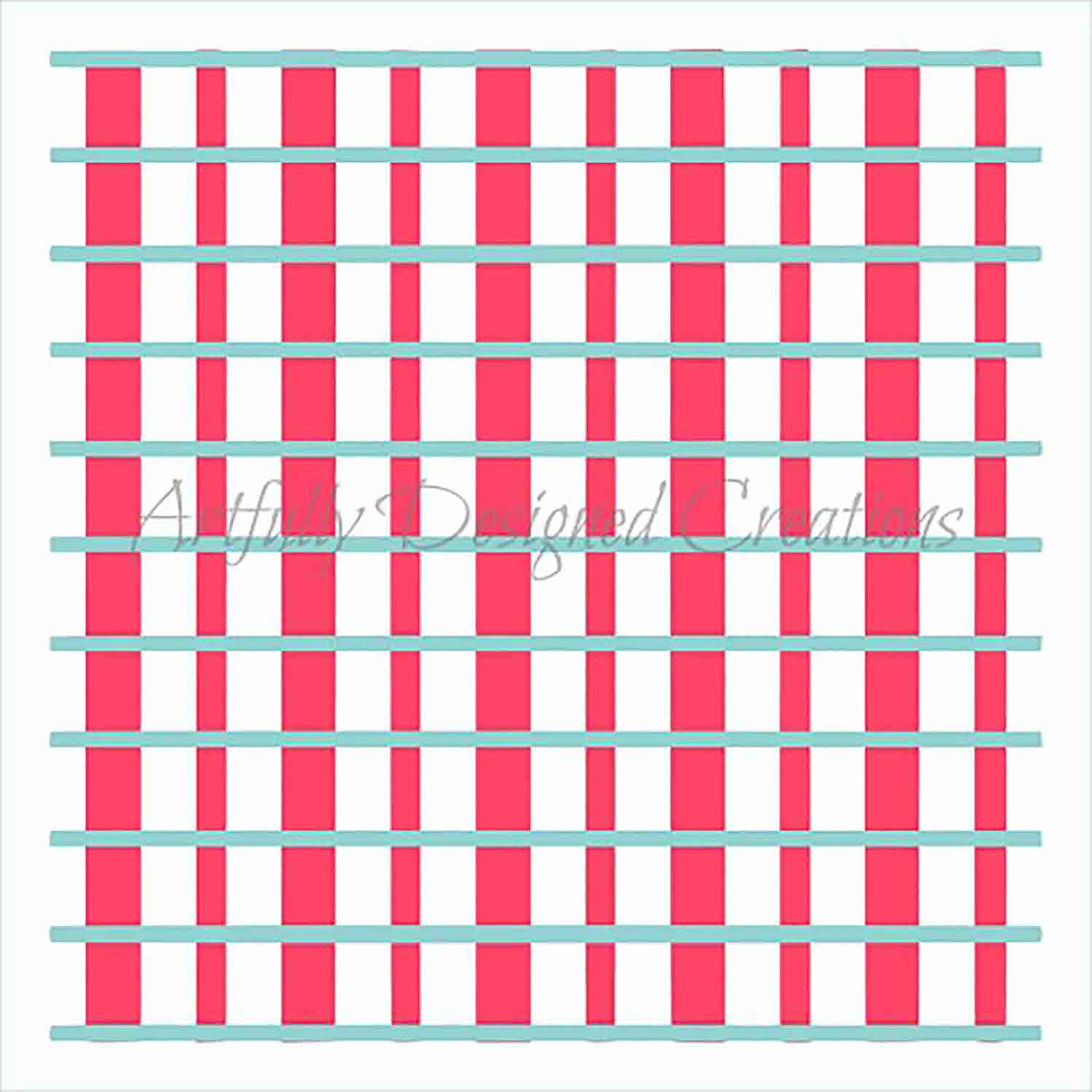 Plaid Cookie Stencil Set