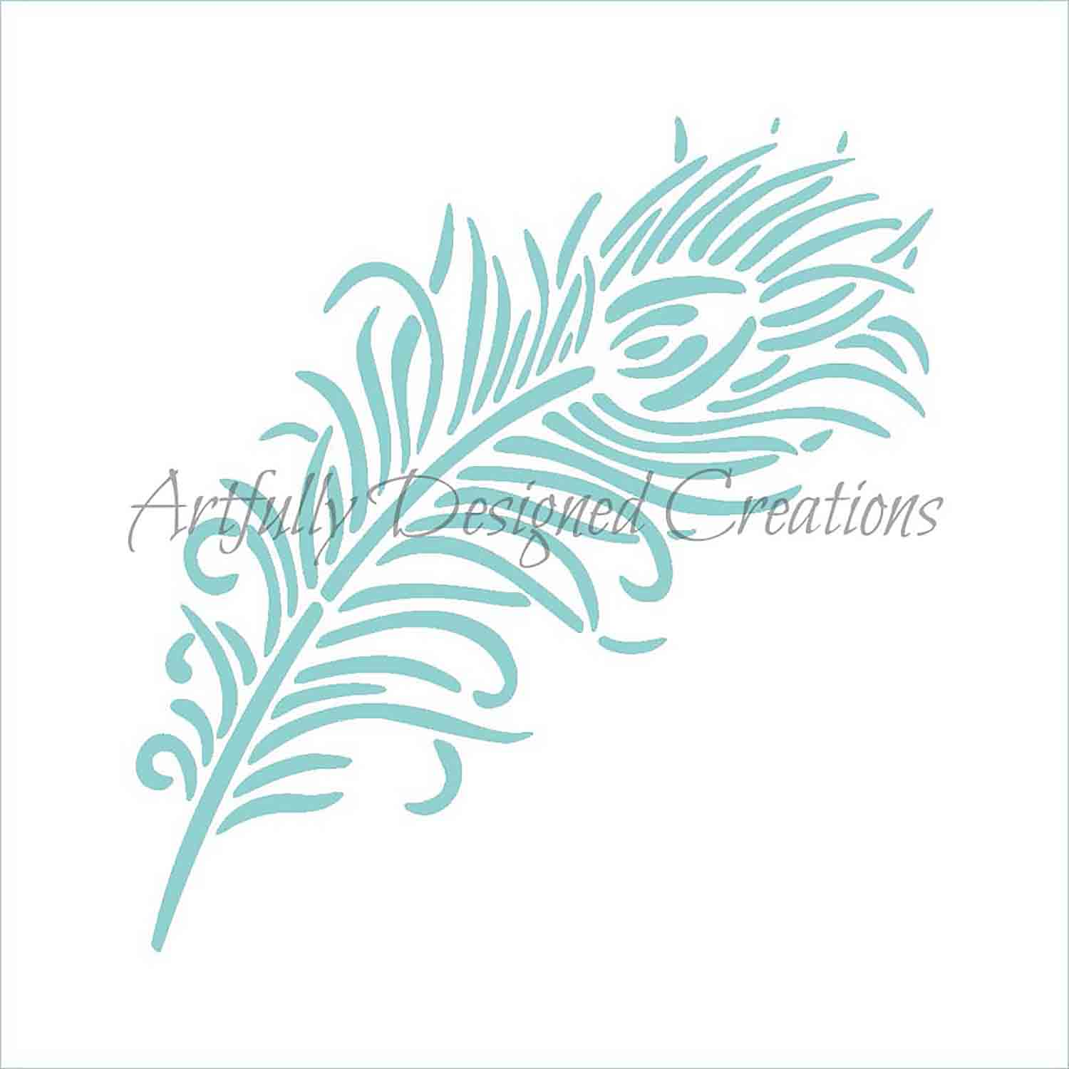 Peacock Feather Cookie Stencil