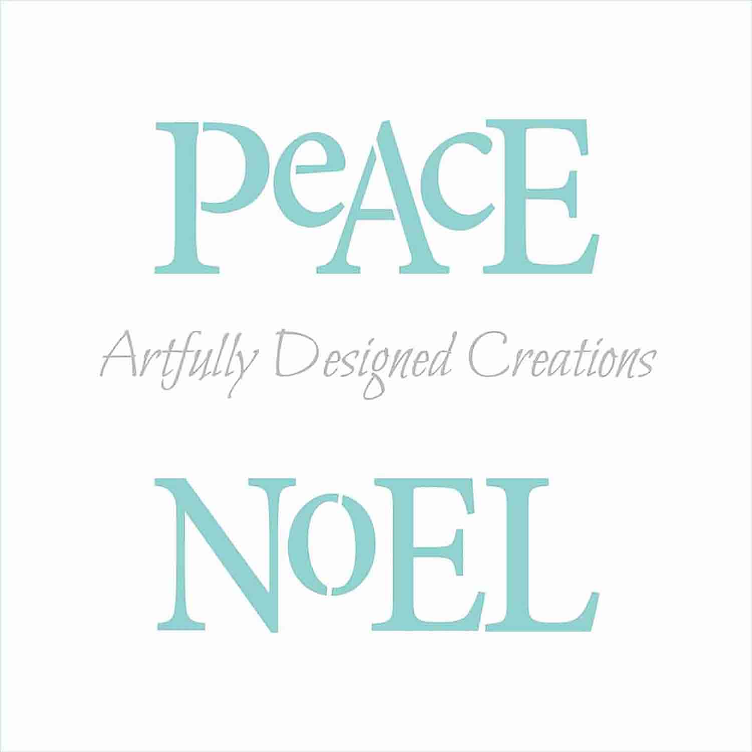 Peace Joy Noel Love Cookie Stencil Set