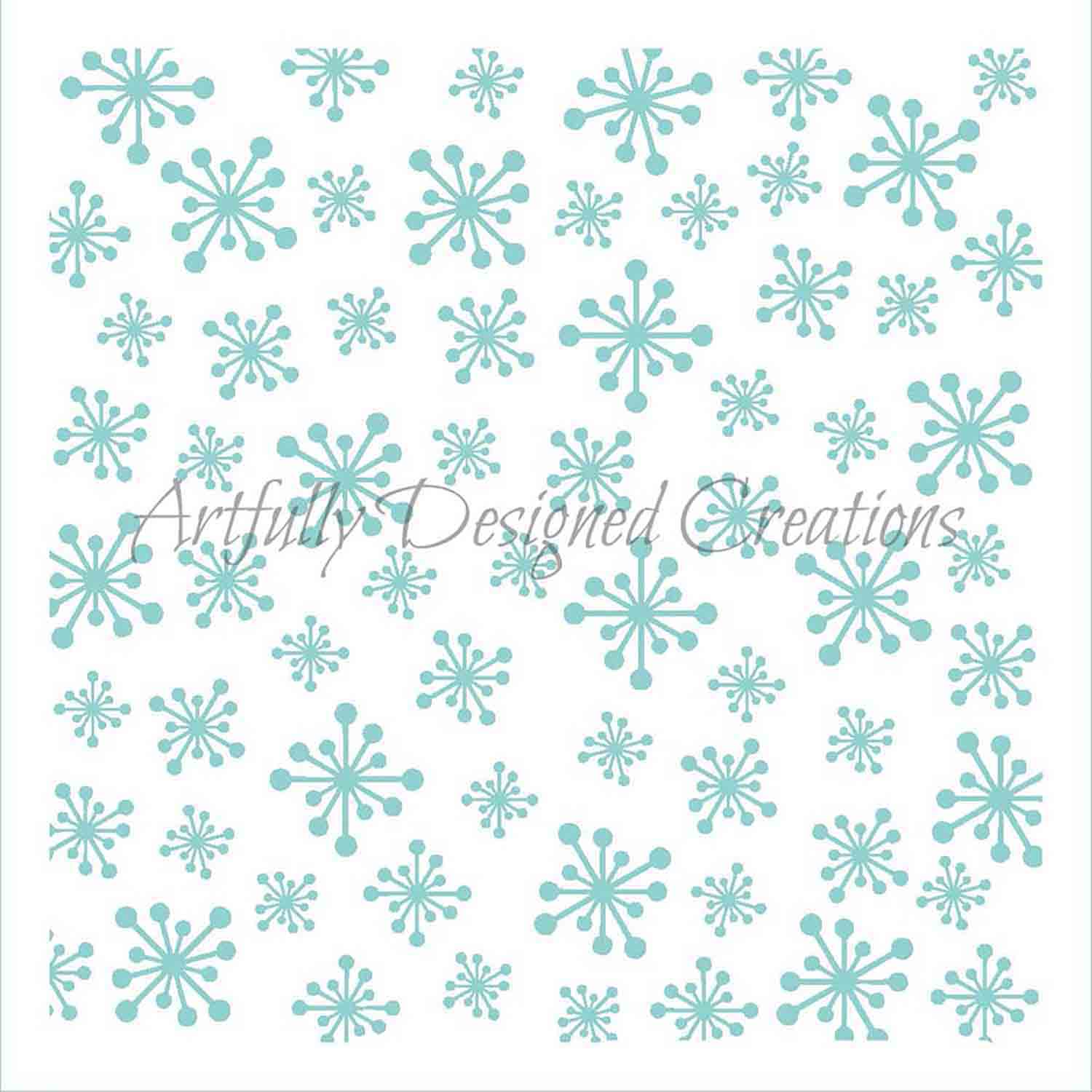 Retro Snowflake Cookie Stencil