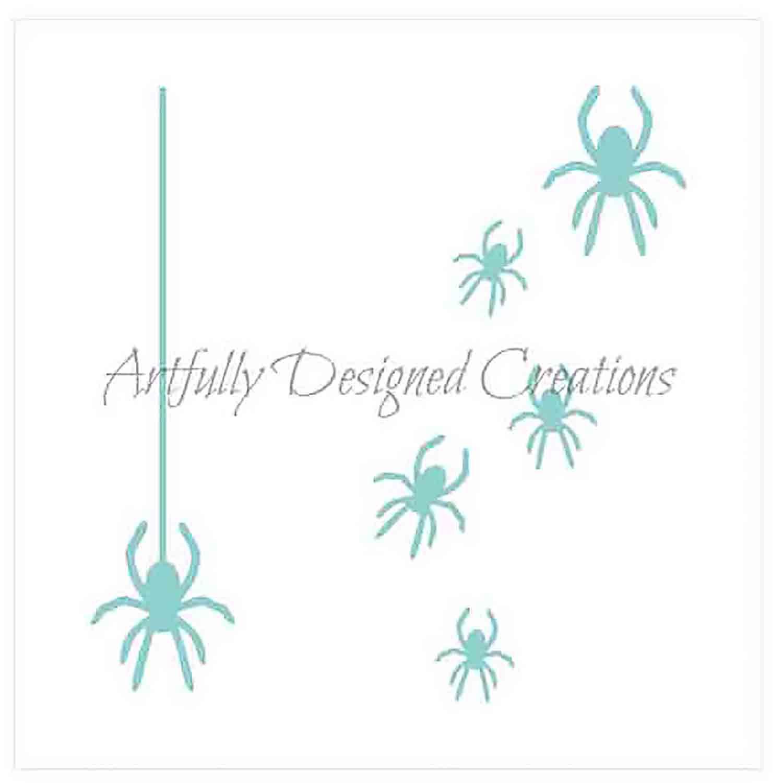 Spiders Cookie Stencil