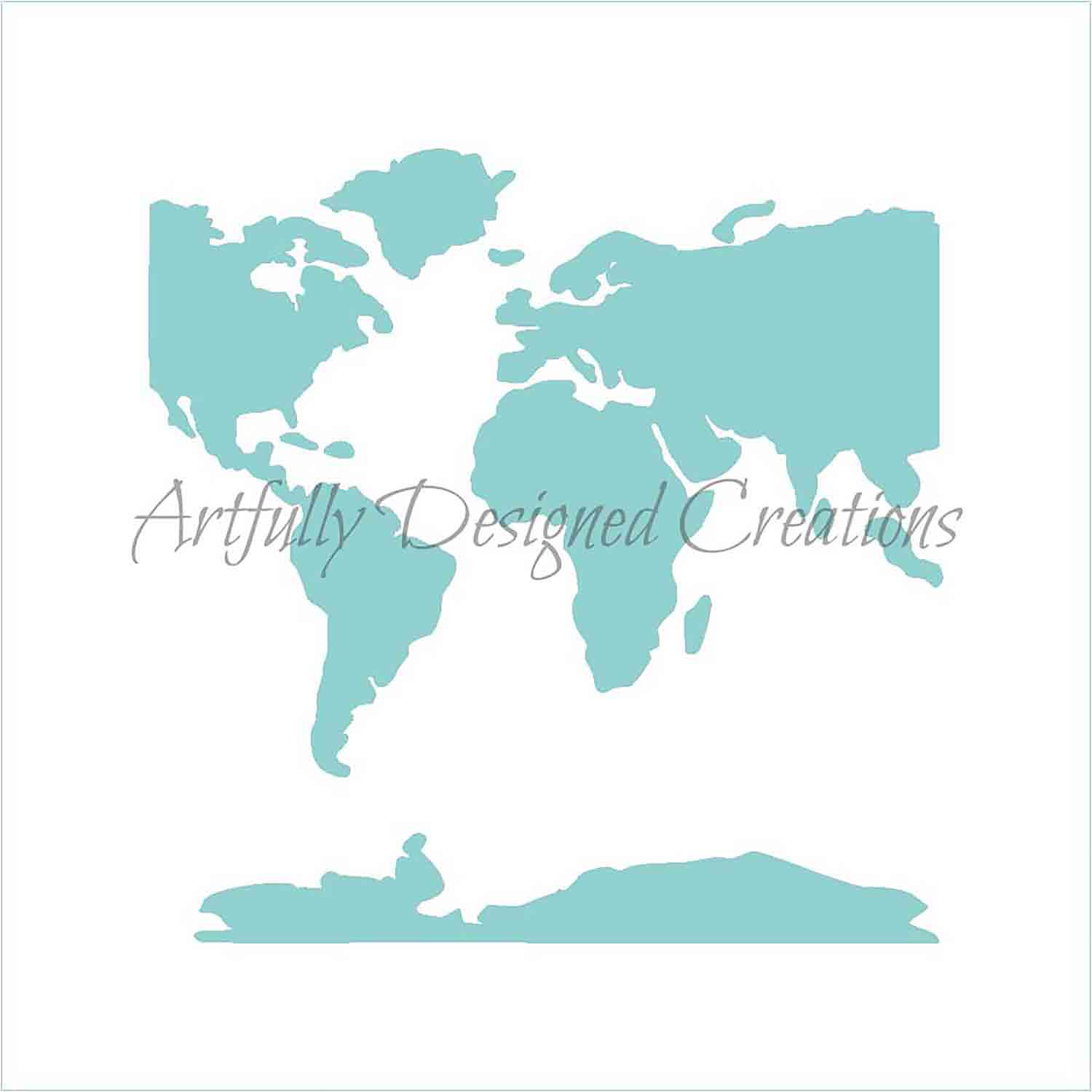 World Map Cookie Stencil