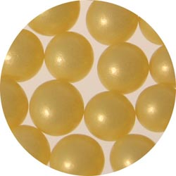 6mm Yellow Sugar Pearls / Dragees