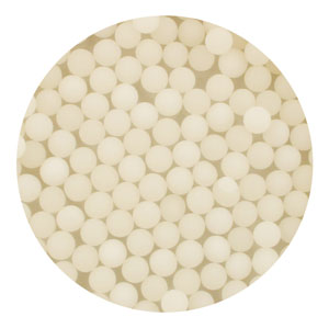 4mm White Matte Sugar Pearls / Dragees