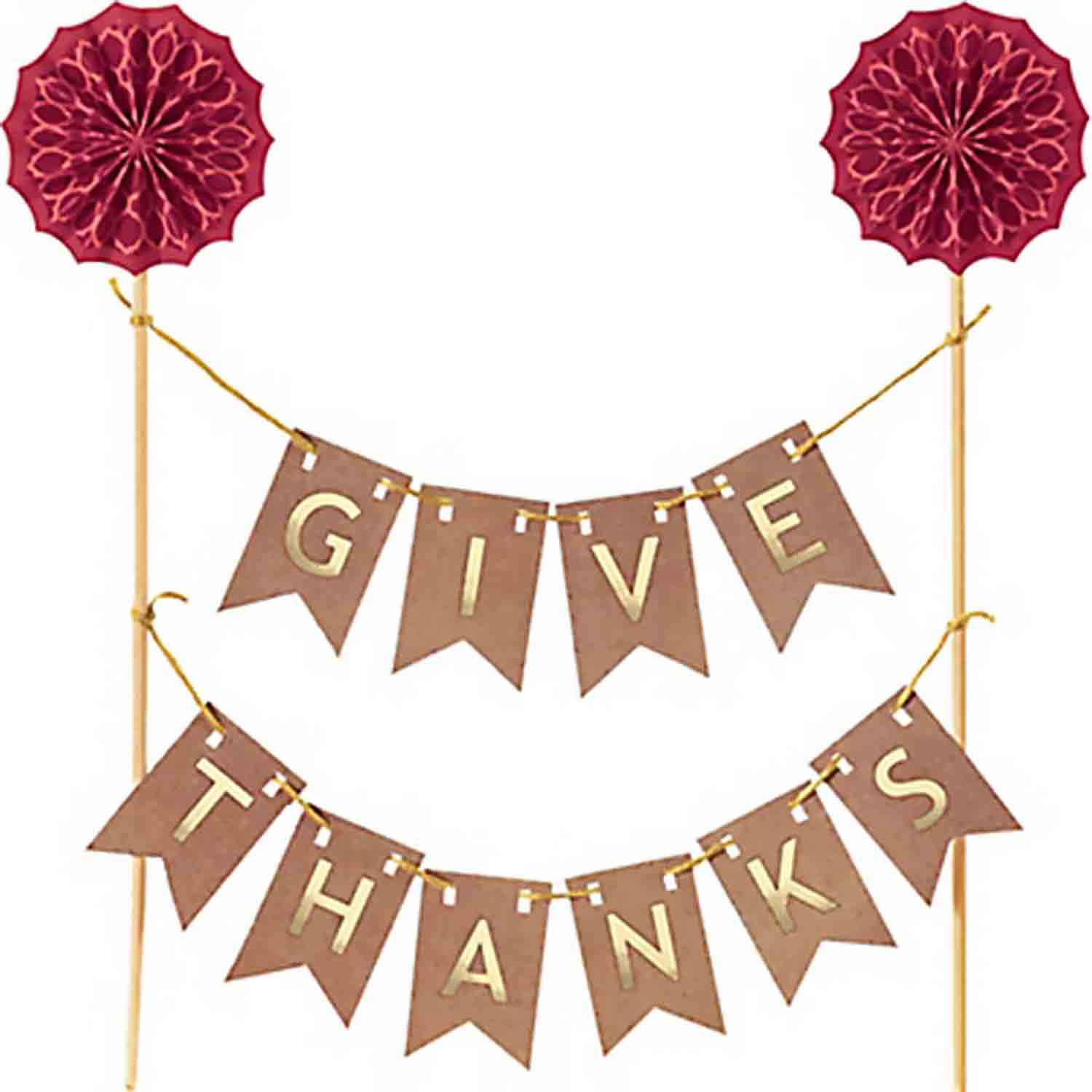 Give Thanks Cake Banner