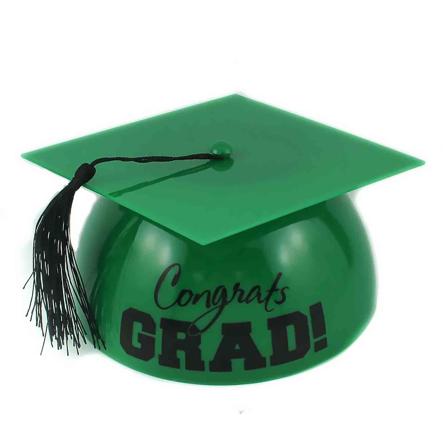 Green Grad Hat Cake Topper
