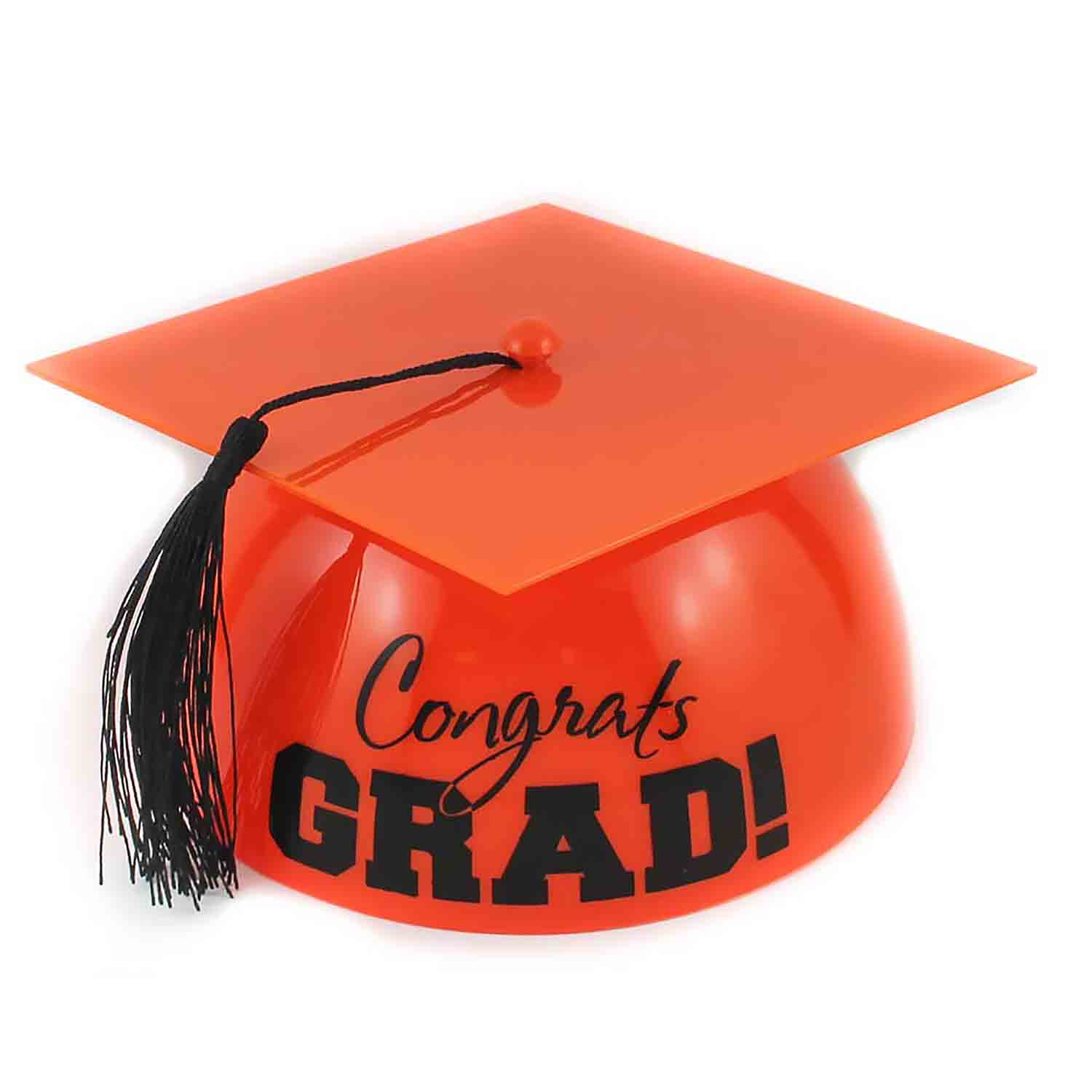 Orange Grad Hat Cake Topper