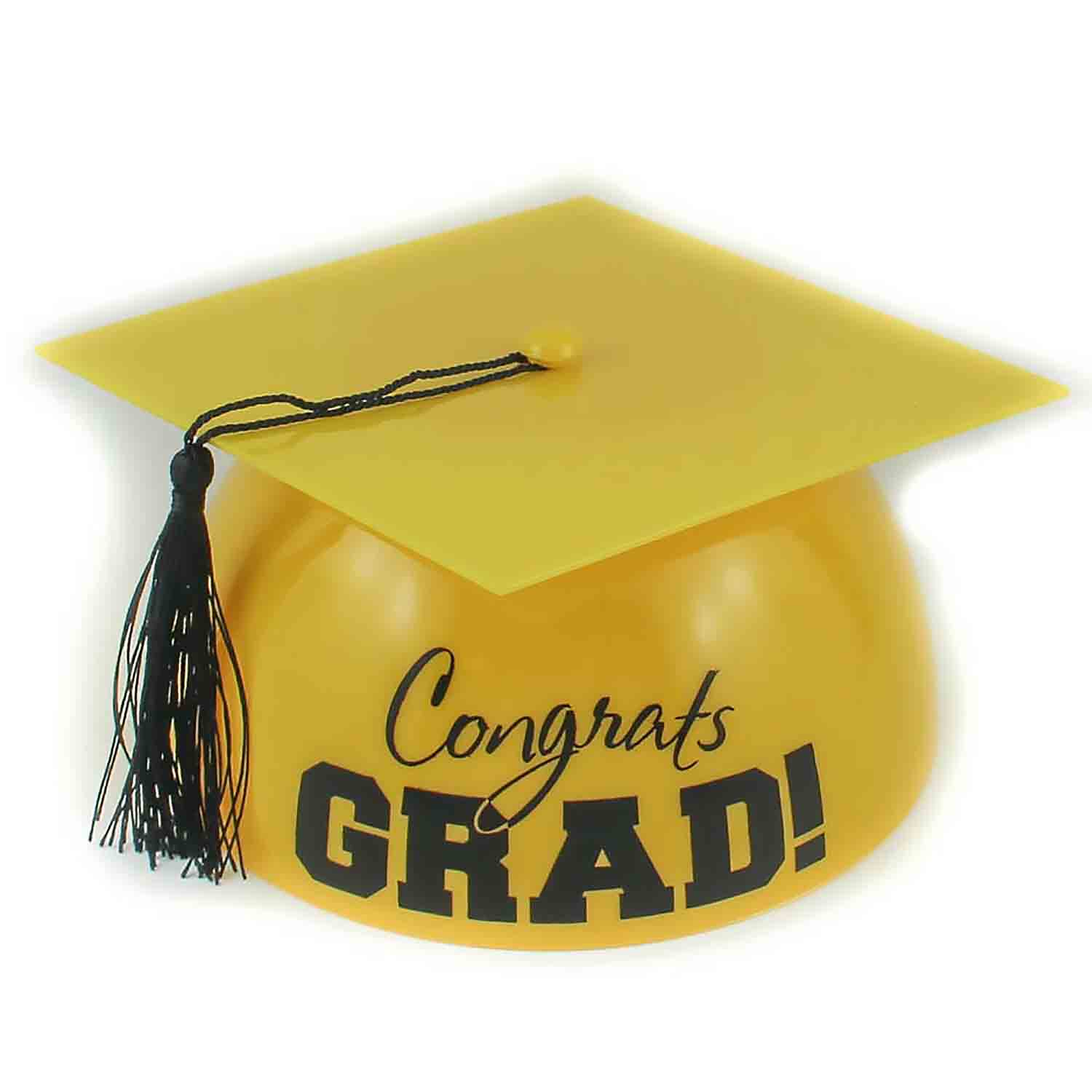 Yellow Grad Hat Cake Topper