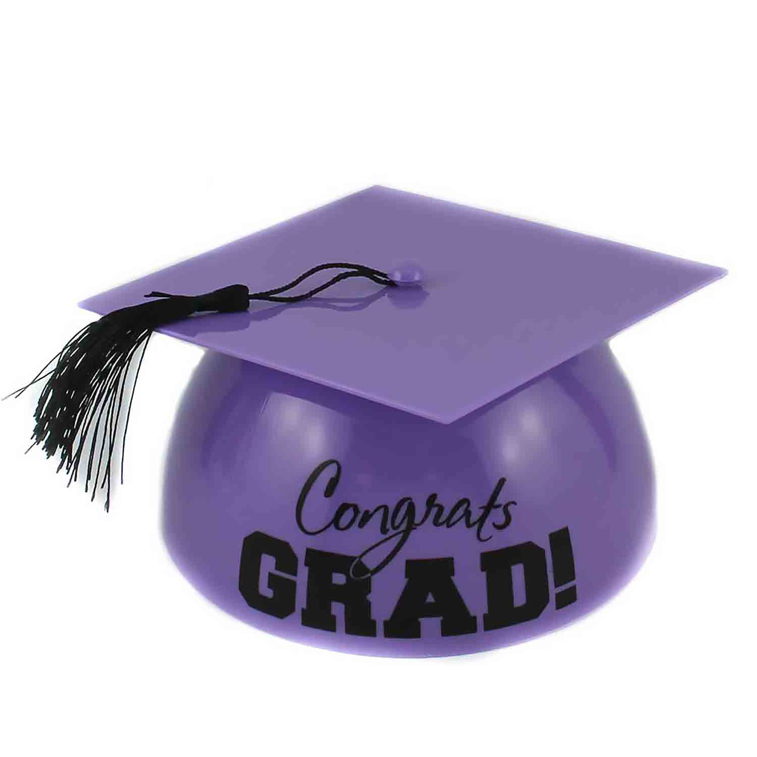 Purple Grad Hat Cake Topper