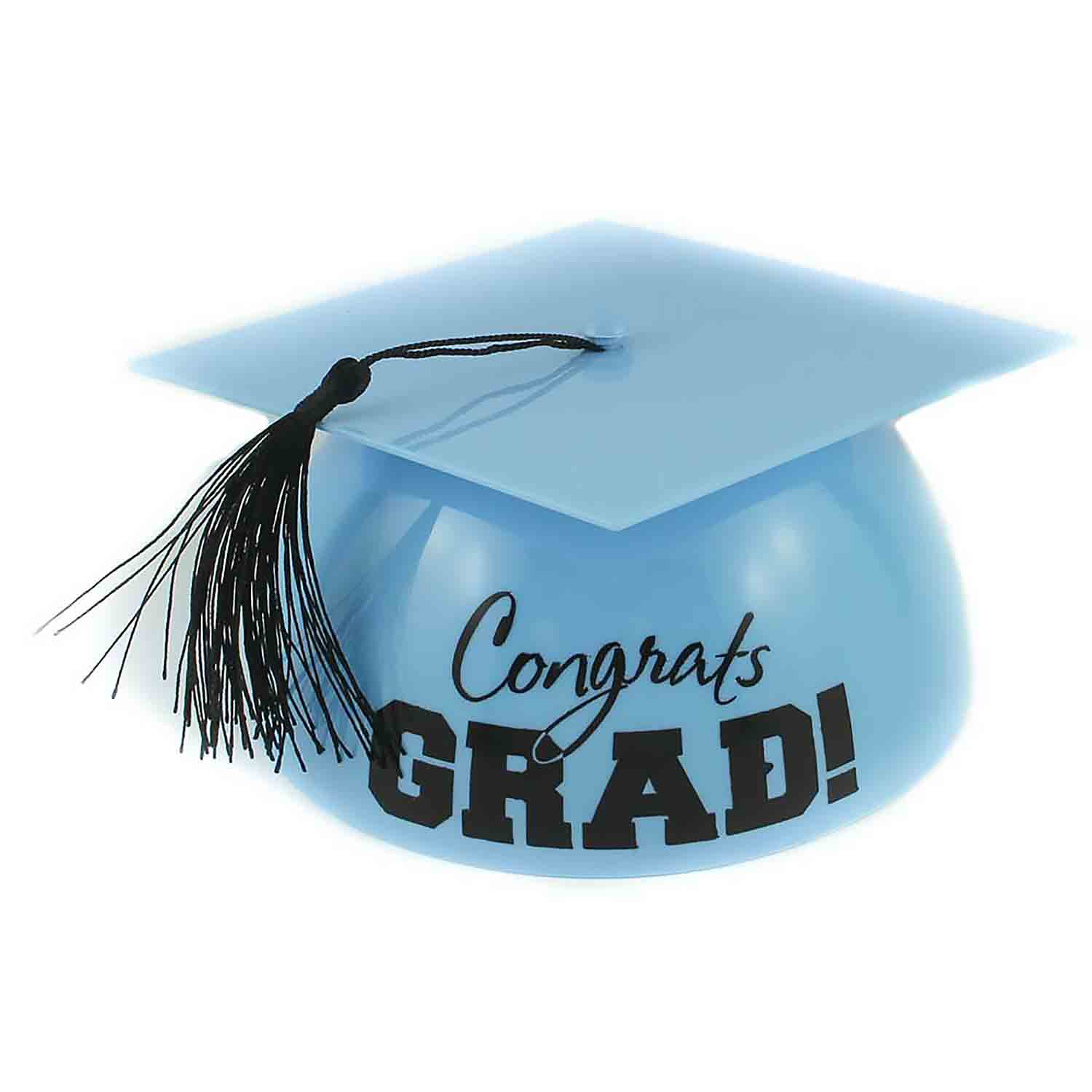 Light Blue Grad Hat Cake Topper