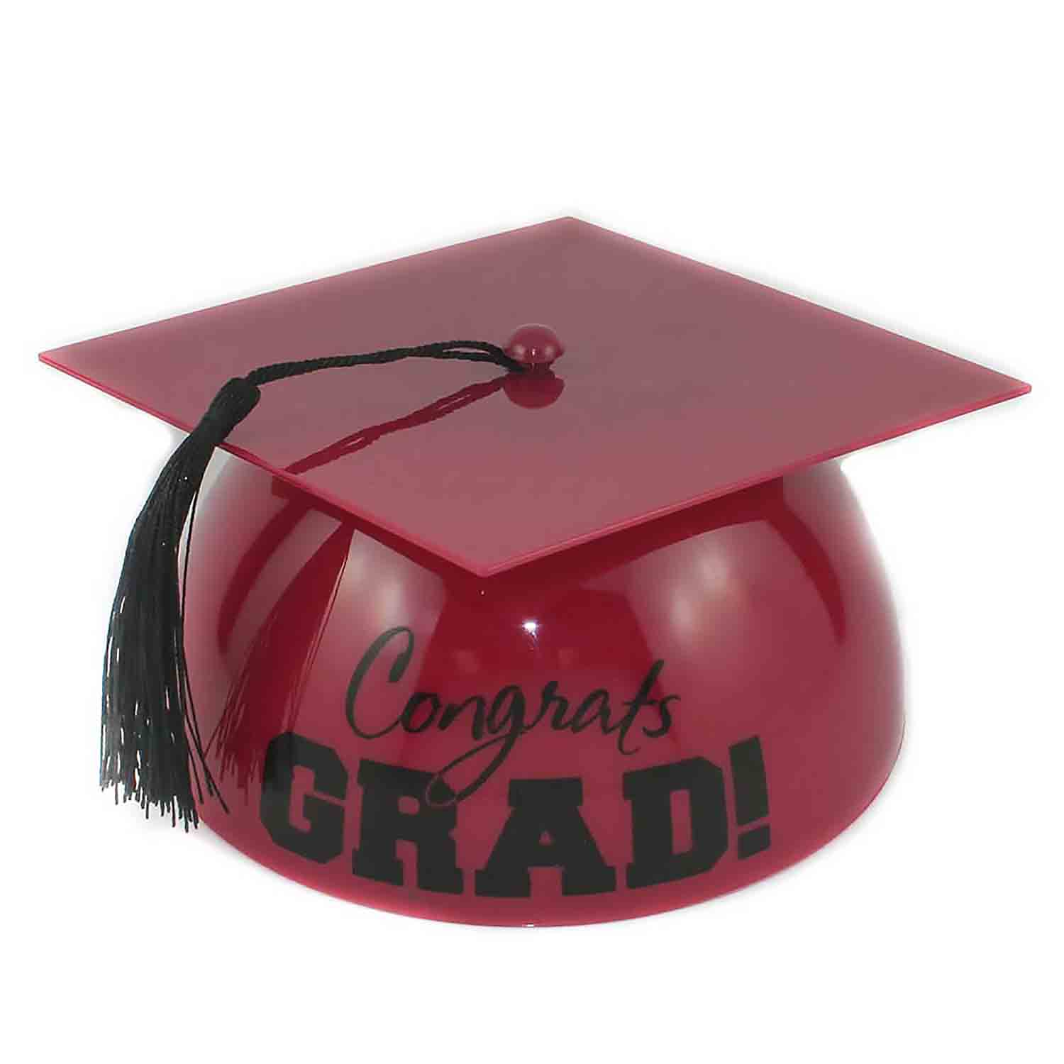 Burgundy Grad Hat Cake Topper