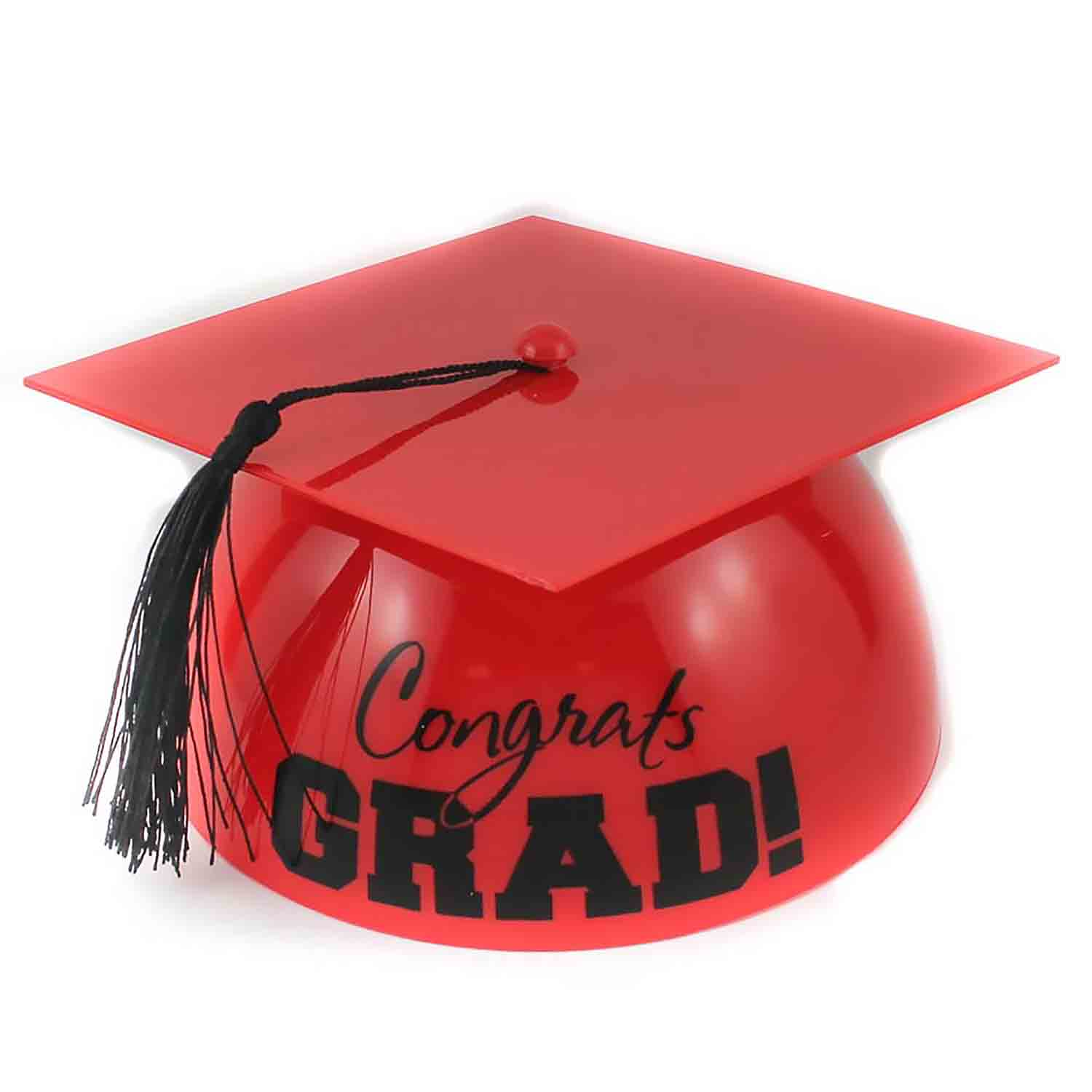 Red Grad Hat Cake Topper