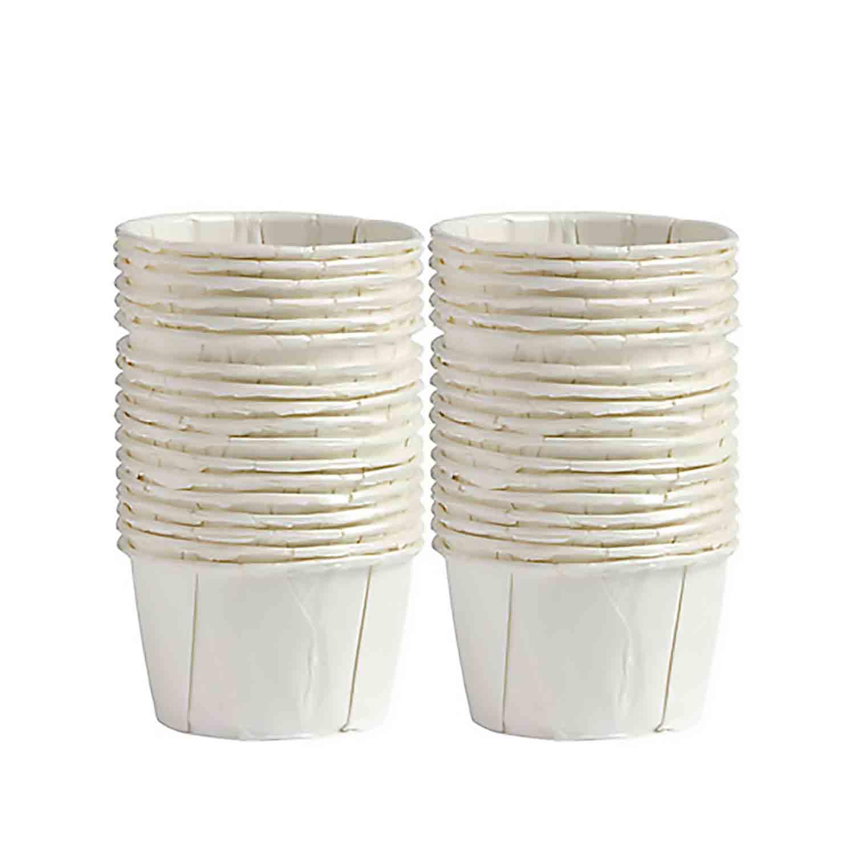 Mini White Treat Cups