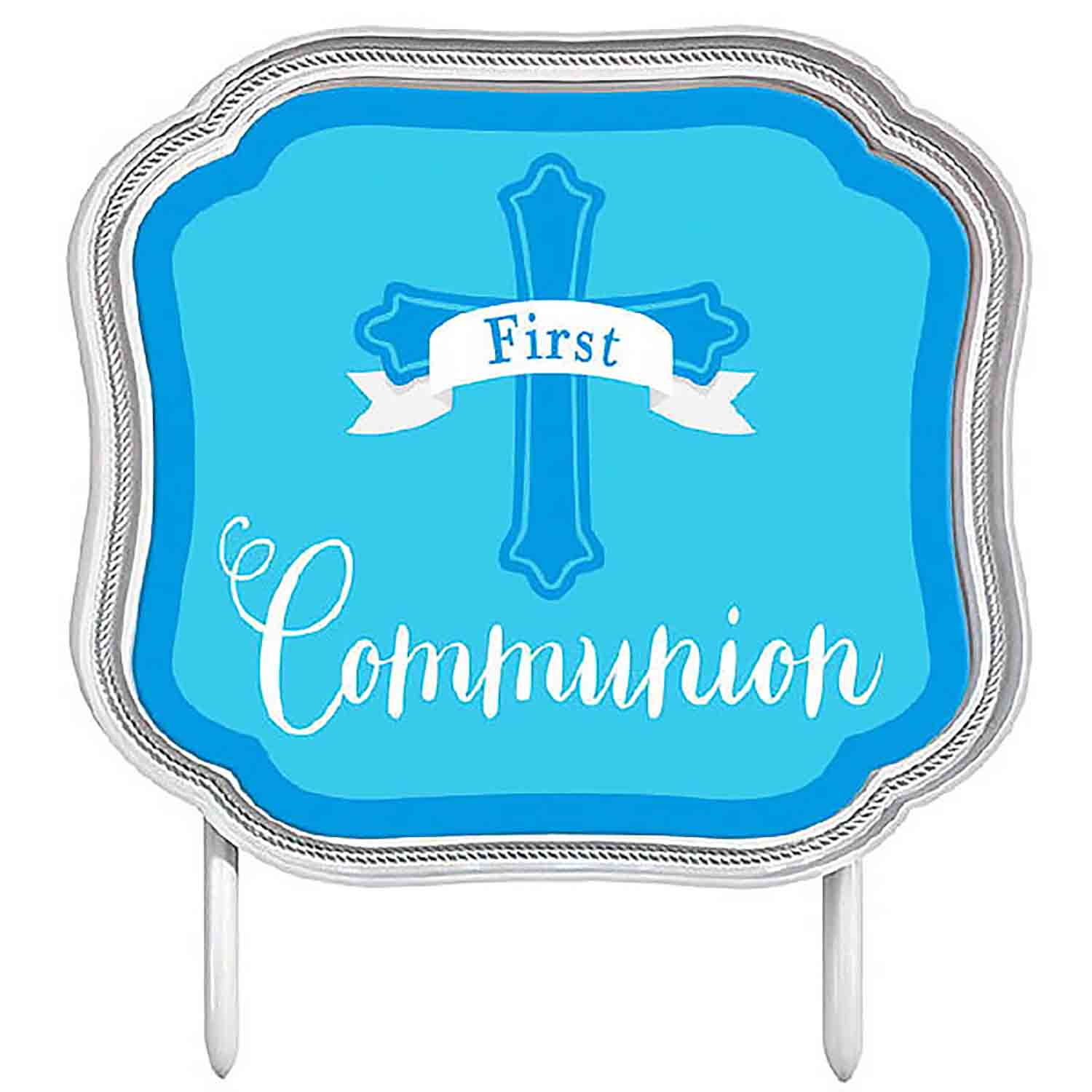 Blue First Communion Cake Pick