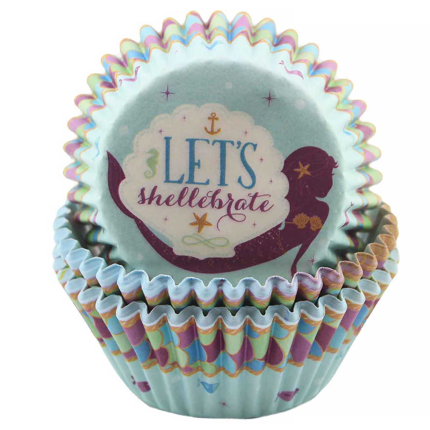 Mermaid Wishes Standard Baking Cups