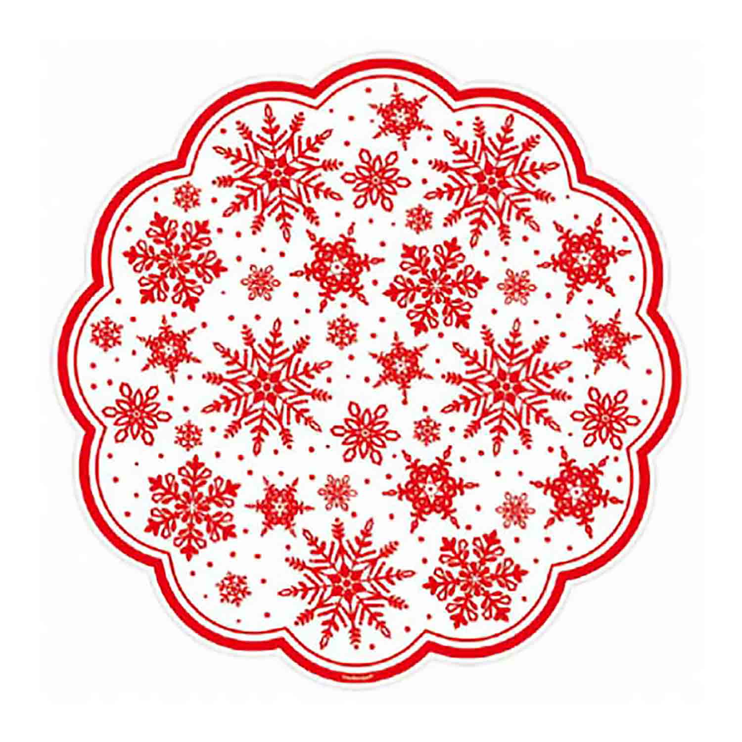 Red Snowflake Doilies