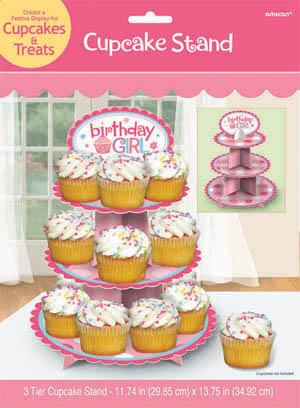 Cupcake Stand - Girl 1st Birthday