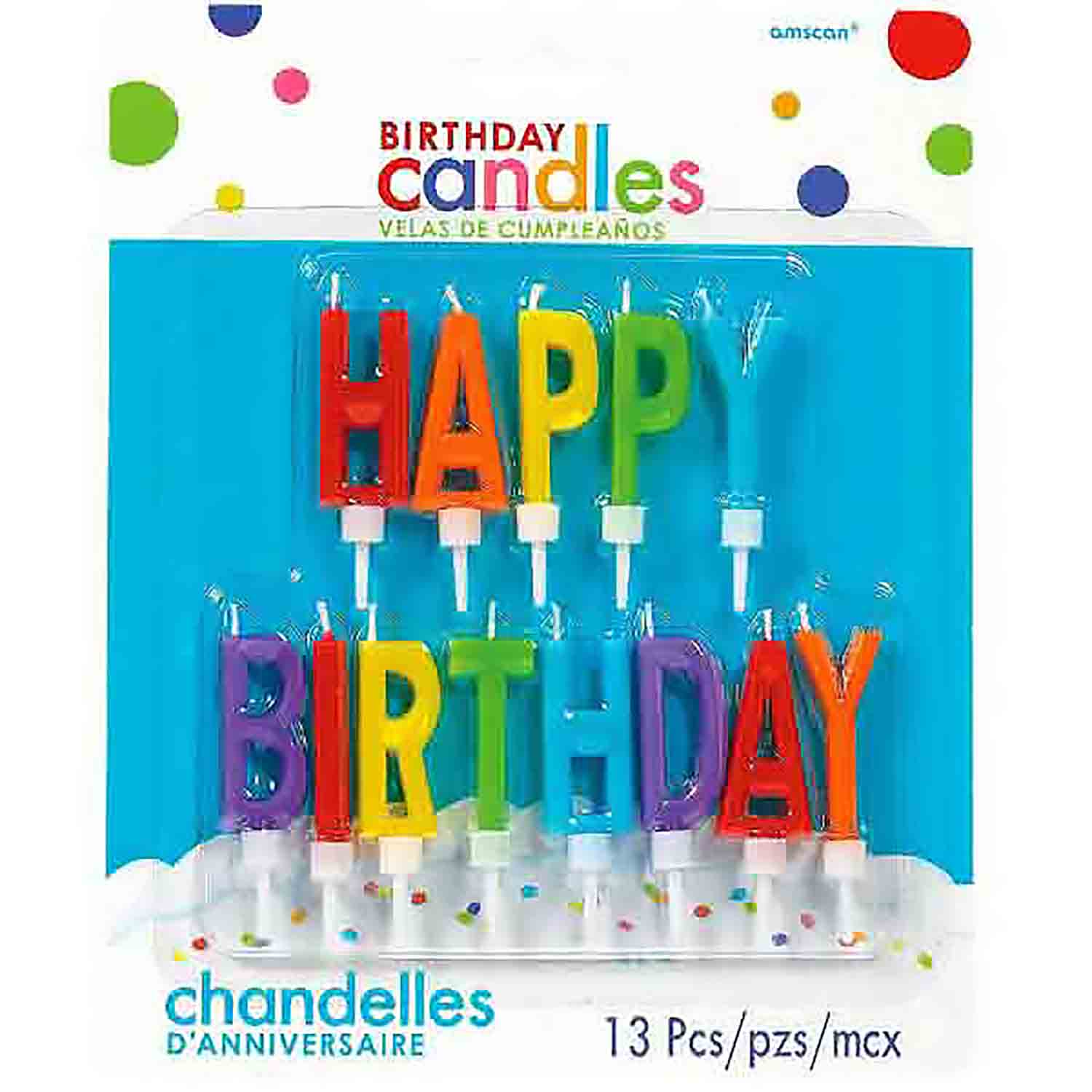 Primary Happy Birthday Candle Set