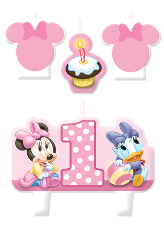 Minnie 1st Birthday Candle Set