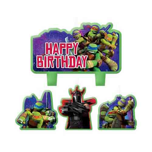 Ninja Turtles Birthday Candle Set