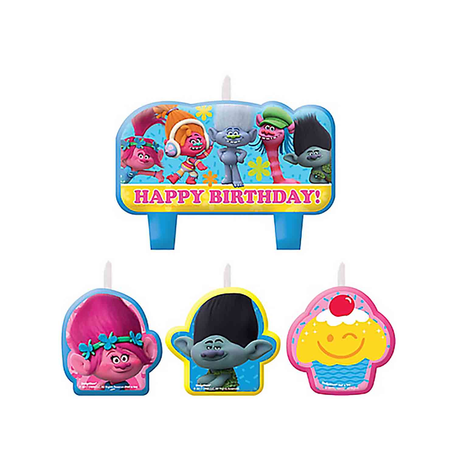 Trolls Birthday Candle Set
