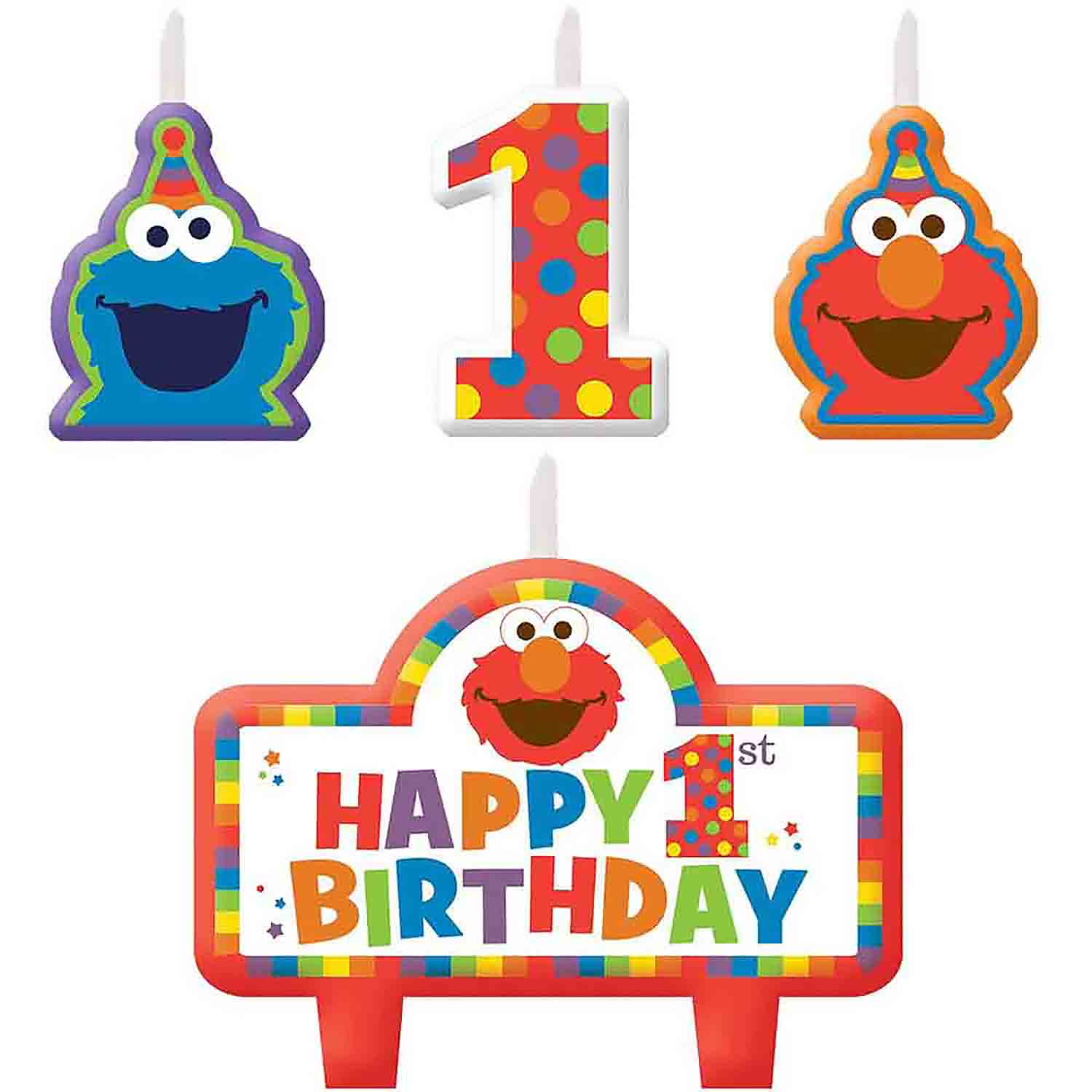 Sesame Street First Birthday Candle Set