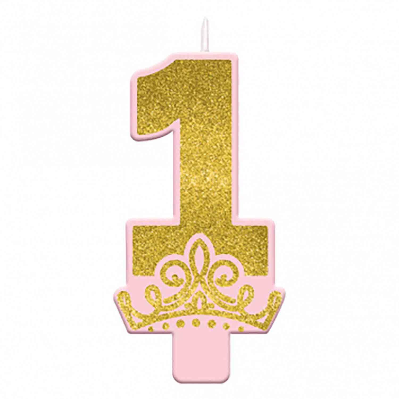 Disney Princess Number 1 Candle