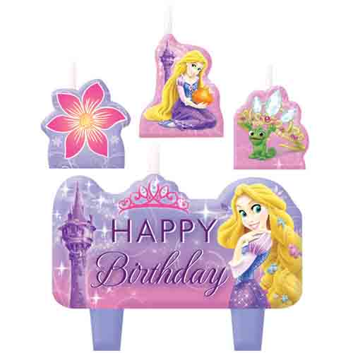 Rapunzel Birthday Candle Set