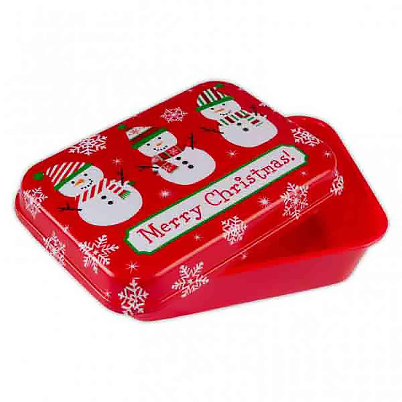 2 lb. Snowman Plastic Treat Box