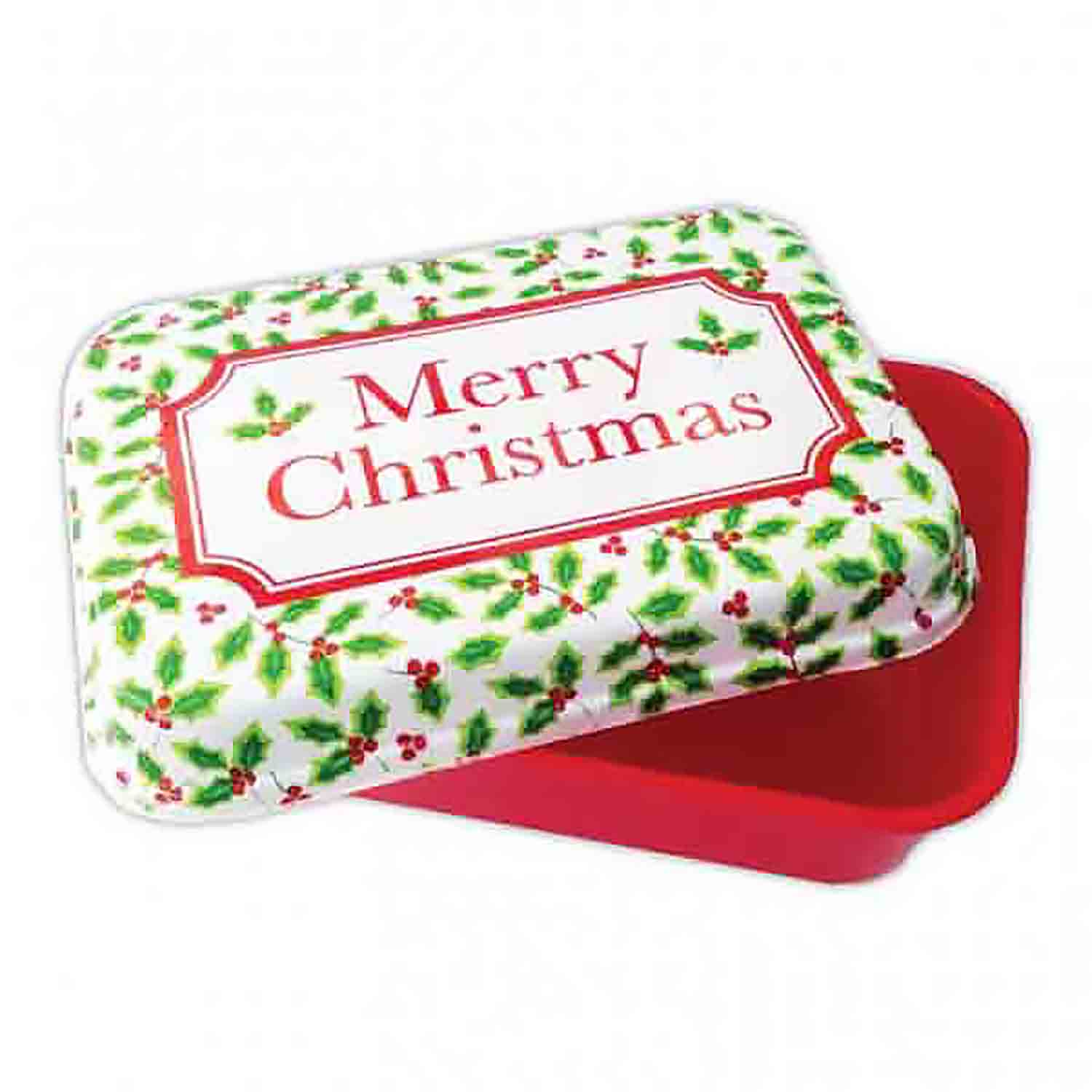 2 lb Merry Christmas Holly Treat Box