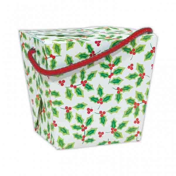 2 lb. Holly Take Out Treat Box