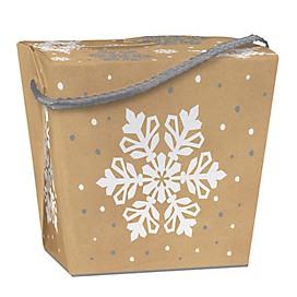 2 lb. Kraft Snowflake Take Out Treat Box