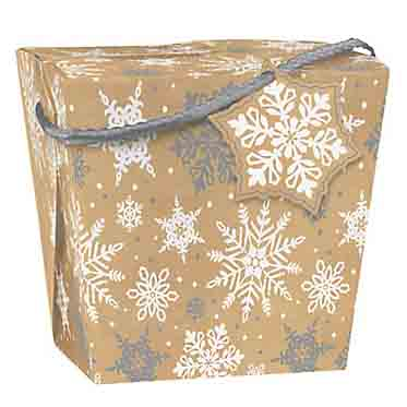 5 lb. Kraft Snowflake Take Out Treat Box