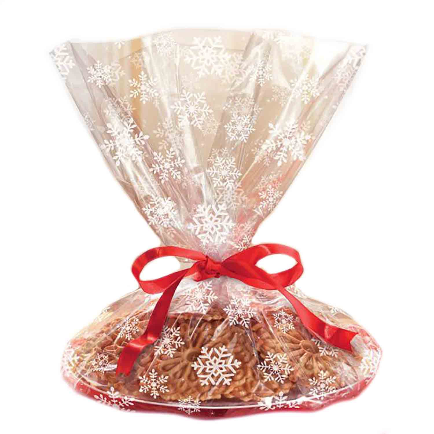 Cello Cookie Tray Bag- Snowflake