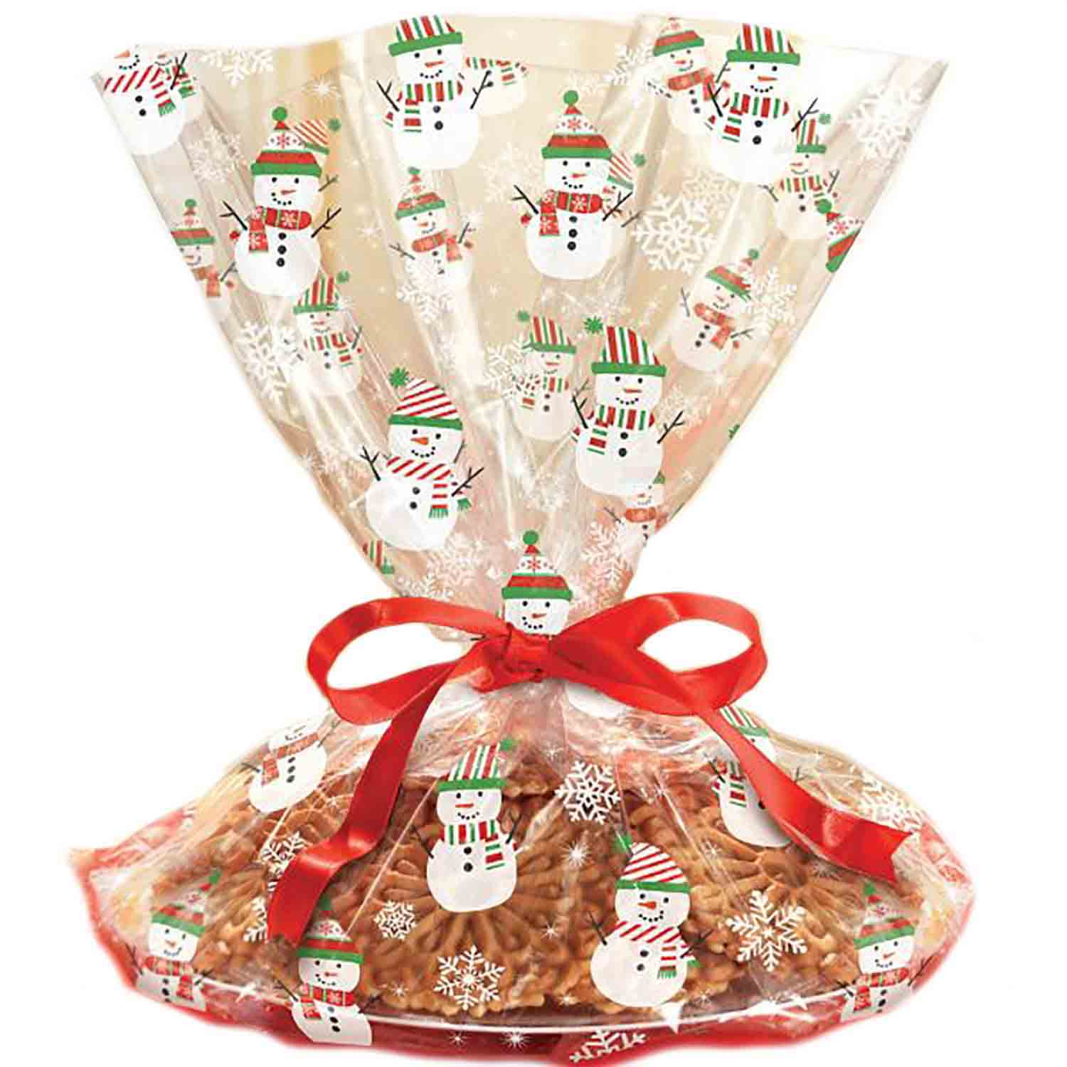 Cello Cookie Tray Bag- Snowman