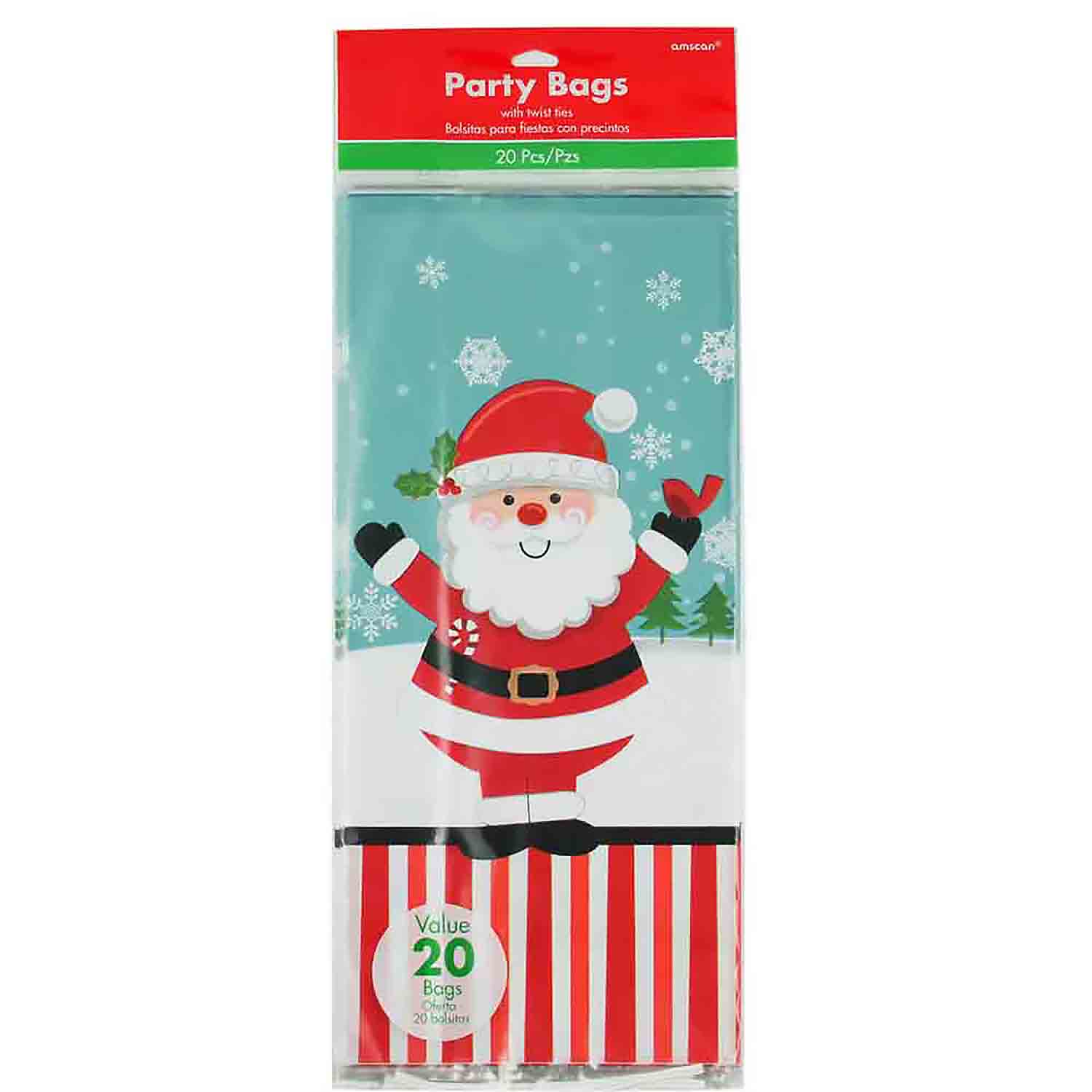 Jolly Santa Small Treat Bags