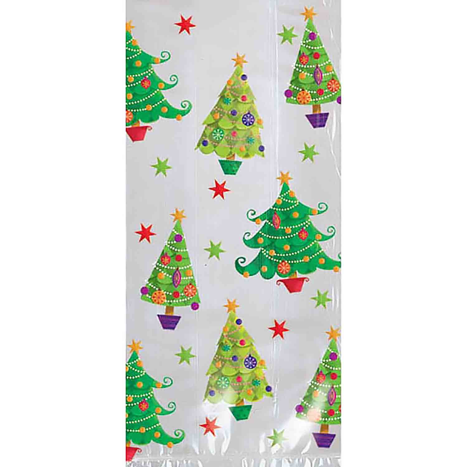 Party Bag - Christmas Trees, Large
