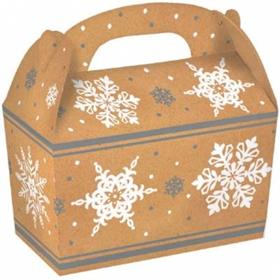 1 lb. Kraft Snowflake Treat Box
