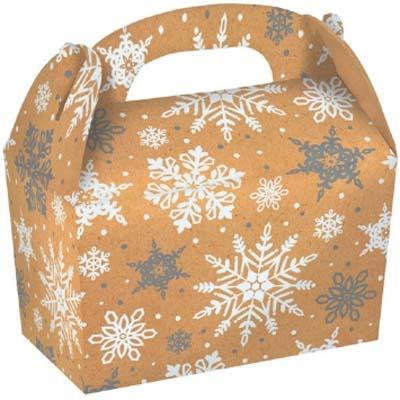 3 lb. Kraft Snowflake Treat Box