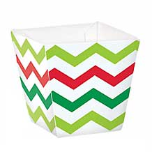1/8 lb. Christmas Chevron Favor Box