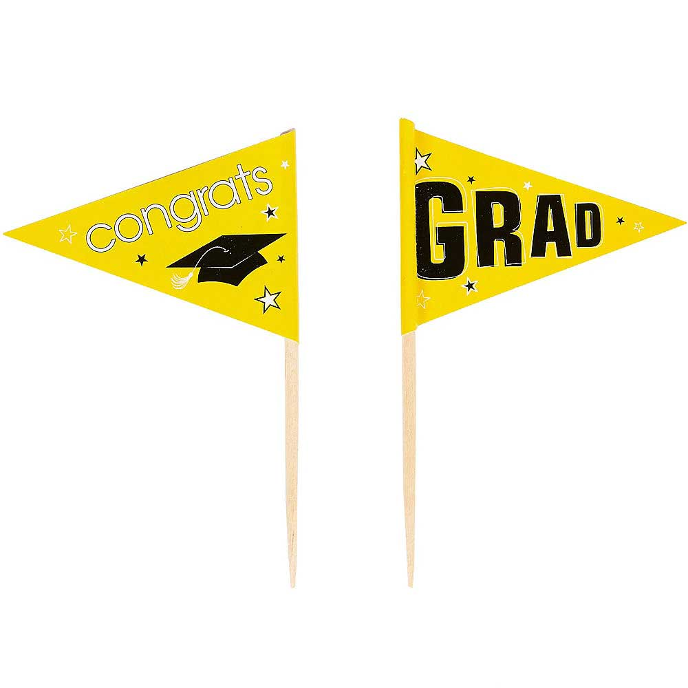 Yellow School Pride Graduation Picks